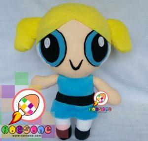 Boneka Bubbles The Powerpuff Girls dari Kain Velboa