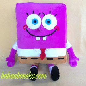 Boneka SpongeBob Ungu dari Kain Velboa