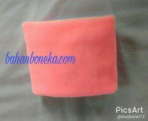 Kain Bahan Velboa Pink