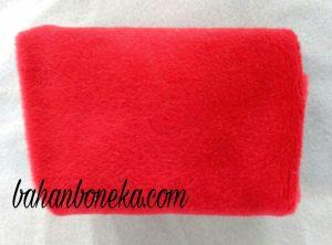 Membuat Boneka Maskot 17 Agustus dari Kain Velboa Merah