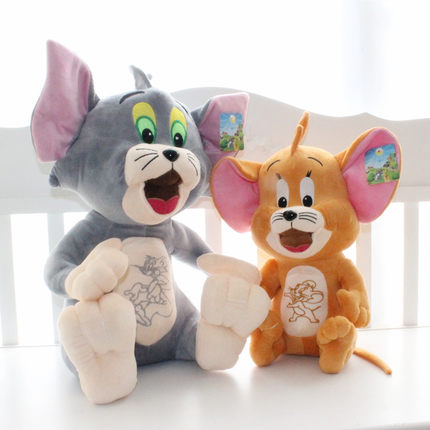 Membuat Boneka Tom and Jerry dari Kain Velboa