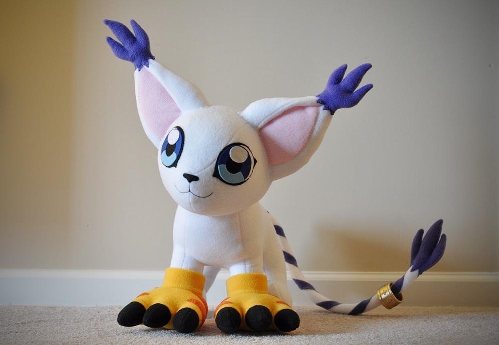 Membuat Boneka Digimon dari Kain Velboa