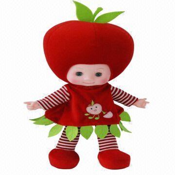 Membuat Boneka Buah Apel Dari Kain Velboa