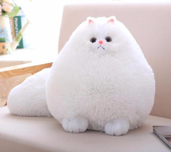 Boneka Kucing Persia Lucu dari Kain Rasfur
