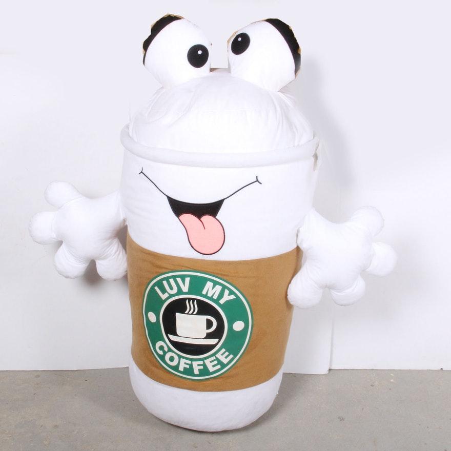 Coffee Plush Doll Custom Lucu