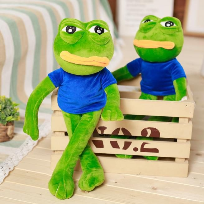 Green Frog in Style Plush Toy
