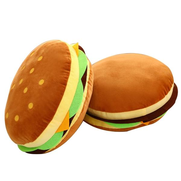 Double Hamburger Pillow Custom Unik