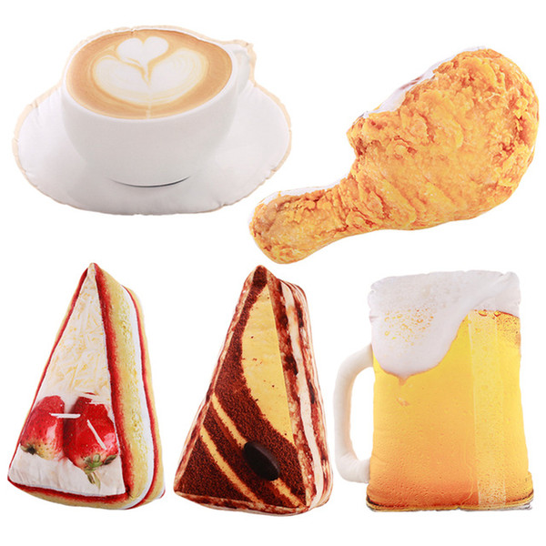 Cakes Chicken Coffee and Beer Stuffed Toys