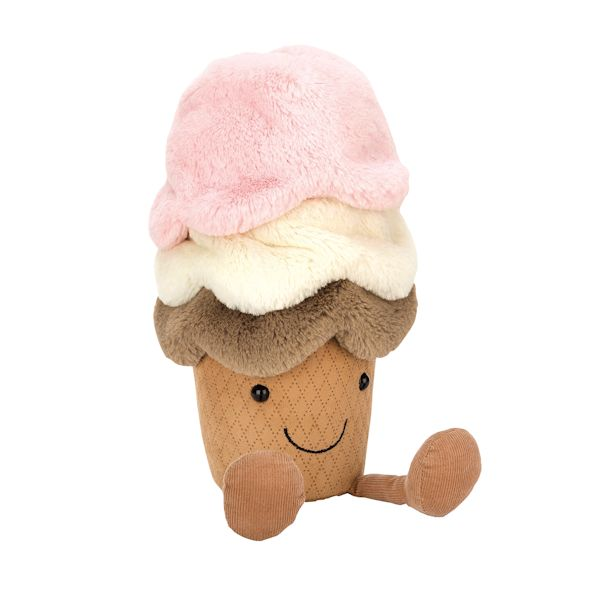 Cute Brown Ice Cream Plush Toys