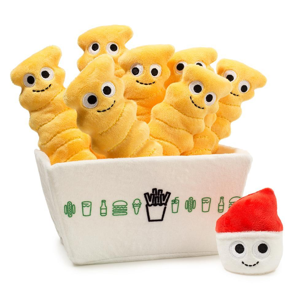 Cute Snacks in White Bucket